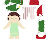 Holiday Printables -- Advent Calendar, Elf Paper Doll, Coloring Sheets