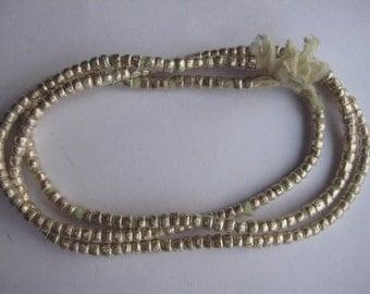 Heishi beads, Ethiopian silver heishi beads, silver beads, Ethiopian beads, African beads
