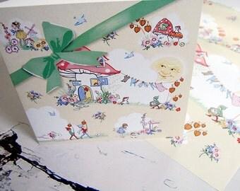 Sunny days and bow card