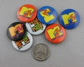 Vintage MTV Pin 1980s Choice of Color!