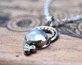 Moonstone pendant, moonstone necklace silver, bohemian jewelry, June birthstone, artisan silver jewelry, henna jewelry, ready to ship