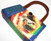Harry Potter Book Purse Half Blood Prince, Recycled Handbag, Upcycled Womans Fashion Accessories