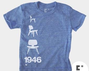 Kids TShirt, Eames Chair, Modern Kids, Boys Girls TShirt, Typography T-Shirt, Baby Boy Clothes, Baby Girl Clothes, Toddler Shirt, Kids Shirt