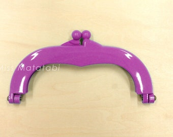 Japanese Purse Frame - gamaguchi - plastic frame - medium - purple