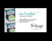Thirty-One Business Card - Hoo's Happy