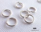10 pcs 9mm 16 Gauge Sterling Silver Open Jump Rings F29\