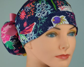 Scrub Hats // Scrub Caps // Scrub Hats for Women // The Hat Cottage // Ponytail // Sunday Clippings