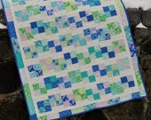 PDF Baby Quilt Pattern using charm squares or jelly roll, layer cake or FQs, Pebbles in the Brook
