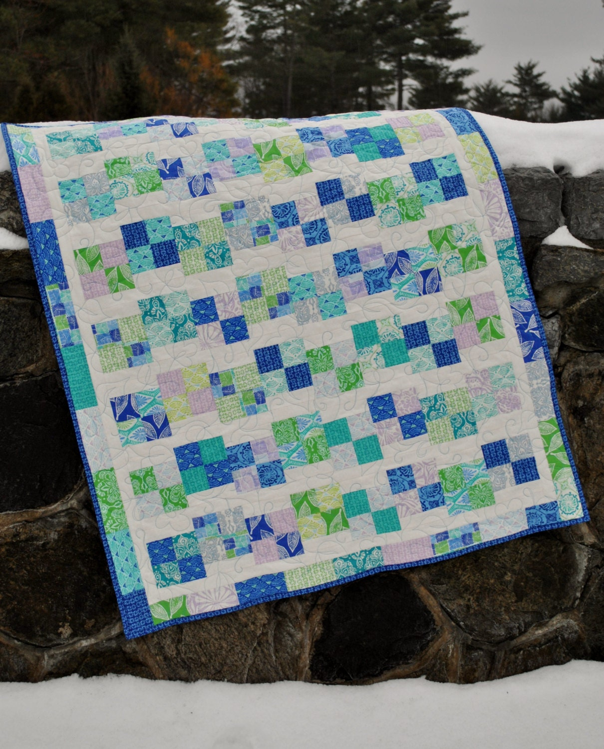 Layer Cake Quilt Definition : Baby Quilt Pattern using jelly roll layer cake or FQs