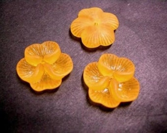 24pc acrylic flower shape bead-orange-W3010X2