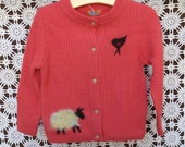 1-2 T Merino Sheep Button up wool  Sweater