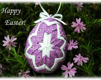 No Sew Quilted Easter Egg Kit and Pattern - Happy Easter