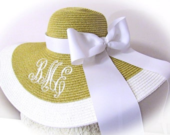 Extra Cheerleader Style Bow and Hat Band with Purchase of Hat from LaDiDa Lady Boutique