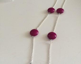 Raspberry sorbet necklace