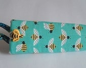 Sweet Bees and More Bees Scissors Case, Padded, Rigid and Bee Button Too