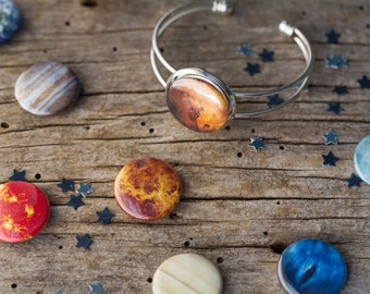 MAGNETS ONLY - Solar System Planet, Moon, and Sun Magnets for Interchangeable Galaxy Jewelry