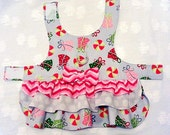 Christmas Dog Harness Dress Chevron Dots and Packages