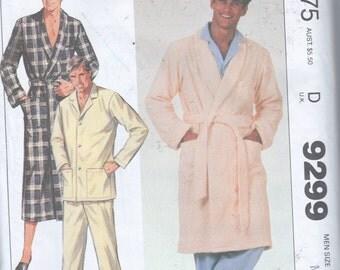 "Wrap Robe Belt Pajamas Pattern Men Uncut  Size M  Chest 38"" - 40"""