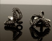 SALE - Tentacle Cufflinks, Sterling Silver Men's Jewelry, OctopusME, Tentacle gifts for him, Octopus Wedding Jewelry, Groomsmen