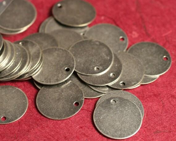 Antique silver blank disc dangle 15mm in diameter, 8 pcs (item ID F1955FY)
