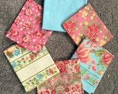 Fabric Destash no. 120, 121 -- 6 Fat Quarters