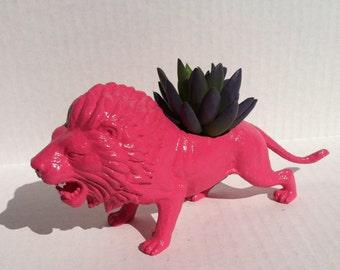 Pink Lion Planter