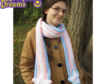 Transgender Pride Scarf Crochet Stars