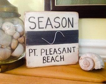 Wooden Season Badge Wall Art Point Pleasant Beach
