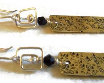 dangle stamped earings