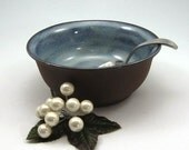 Small Bowl - Serving Bowl - Salsa Bowl - Dip Bowl - Bare Bottom - Dark Chocolate - Hand Thrown Stoneware - Ready to Ship