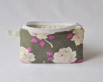 4.5 x 7 Zippered Pouch - Vintage Rose