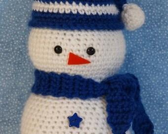 Snowie the Snowman Crochet PATTERN - INSTANT DOWNLOAD