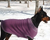 Knitting Pattern for XL Felted Dog Sweater / Coat - PDF pattern - Doberman size Knitted Sweater Pattern