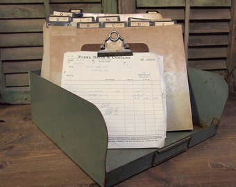 Fun Industrial Metal Carrier box  for Tools or Garden with Handle