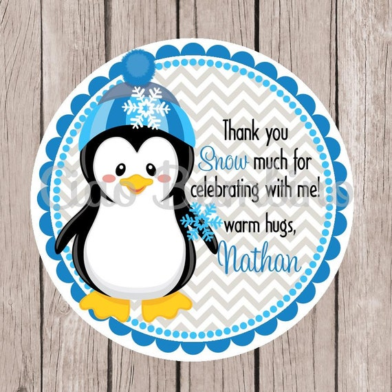 Great PRINTABLE / Penguin Baby Shower Invitation / Winter Wonderland Baby Shower  / Blue And Gray / You Print / Baby Boy   009