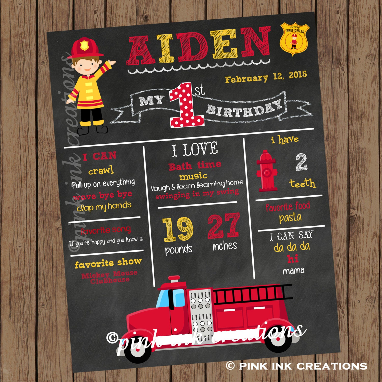 firefighter chalkboard birthday sign fireman chalkboard