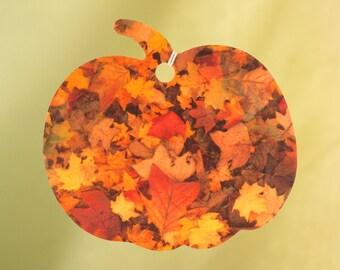 Pumpkin with Autumn Leaves Air Freshener