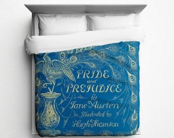 Jane Austen // Pride and Prejudice Duvet Cover - Made in USA