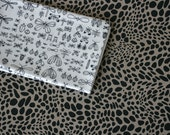 Bugs Fabric - Black and White - Small Piece