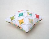 Sale 25% off Pincushion Miniature Pillow Cathedral Window - 5 Inches Square