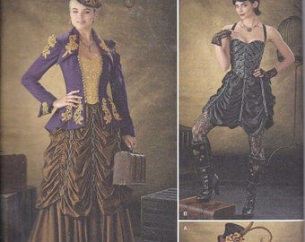 Simplicity 1248 Misses Steampunk Costume Bustier Jacket Skirt Sewing Pattern Sizes 6-12 New UNCUT