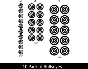 Bullseye wall stickers - children wall decals - nursery bullseye wall decals bullseye stickers home decor