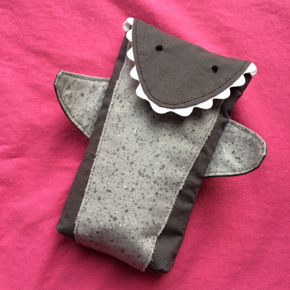 shark week pouch tampon holder pad holder by heavenstobetsy