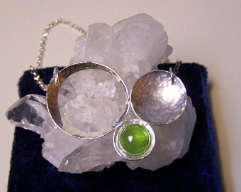 OOAK Sterling Silver Bubble Necklace With Peridot from Sapphireskies