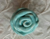 Rose Knobs Aqua Drawer pulls  Hardware Home decor Price is for one