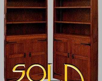 Mission, Arts and Crafts Bookcases, Cabinets, Hutches QUARTERSAWN OAK