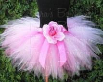 Pink Tutu, Newborn Photo Prop Tutu, Girls Tutu Skirt, Pink Powder Pixie Sewn Tutu, 1st Birthday Tutu, Tulle Skirt for Girls, Babies, Tweens
