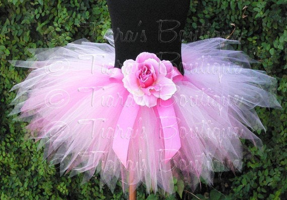 Pink Tutu, Newborn Photo Prop Tutu, Girls Tutu Skirt, Pink Powder Pixie Sewn Tutu, 1st Birthday Tutu, Tulle Skirt for Girls, Babies, Tweens