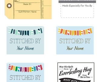 Variety of 13 Quilt Labels, Personalized With YOUR Name!