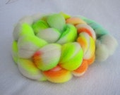 Shibori Dyed Corriedale Wool Fiber Top 4.0oz  - No.1